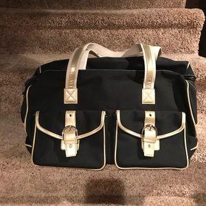 Handbags - Black/Tan travel bag new no tags
